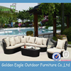 outdoor indoor garden rattan wicker aluminum sofa set covered rattan furniture sofa