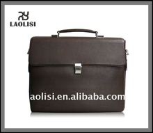 Latest genuine leather wooden briefcase
