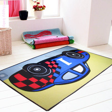 cartoon car kids room polyester hand tufted rug and carpet