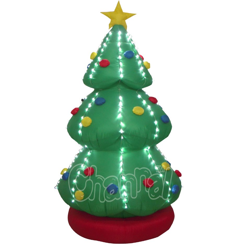 Christmas Inflatable Christmas Tree Decoration Yard Garden Decoration