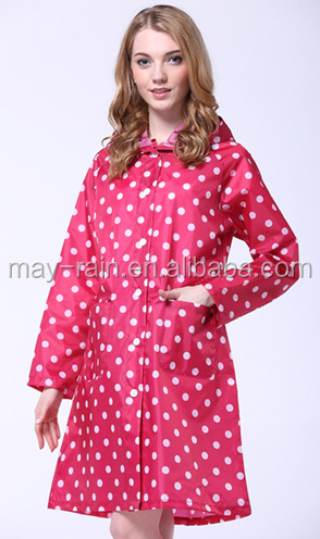 Fashion ladies wind coat customized with high quality in pink