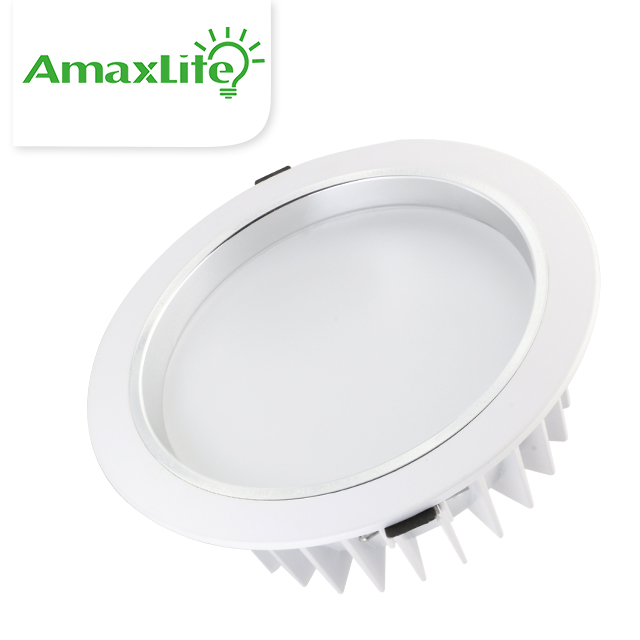 Q4100 Item 10.0 inch Katalog Lampu 40W 30 watt Commercial SMD LED Recessed Downlight Fixture