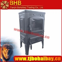 BHB suitable for 240 square meters heating area wood burning cast iron stove