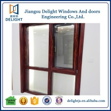 China manufacturer aluminum cladding hardwood timber windows