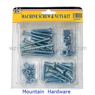 China Supplier, 50PCS Machine Screws and Nuts Assortment