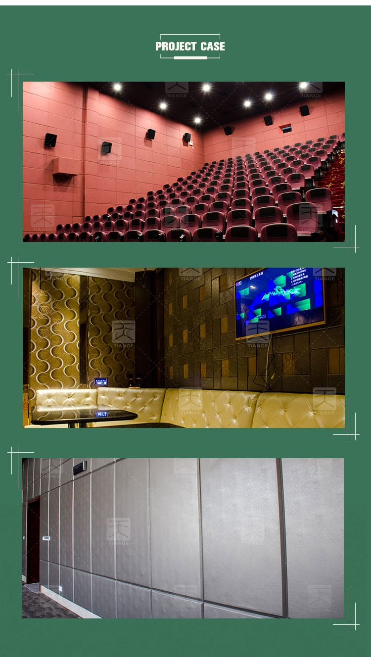 Cinema decorative fabric soundproof acoustic wall panels
