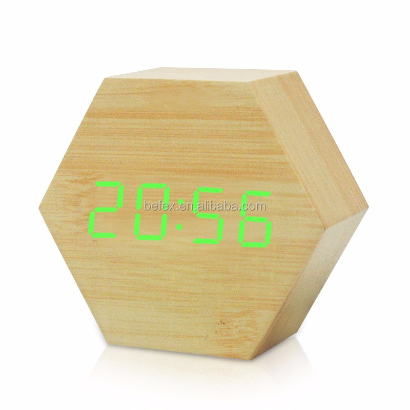 Factory Price Wooden Alarm Clock Digital Alarm Clock LED Alarm Clock