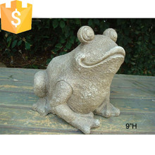 Stone color fiber garden decoration frog