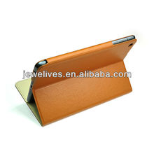 High quality Luxury sheep skin leather case for ipad mini