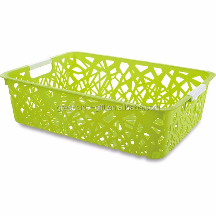 Zhejiang wholesale cheap fashion handle plastic basket
