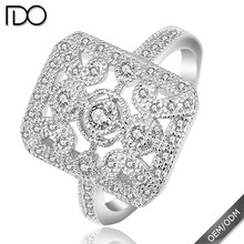 New elegant zircon king and queen ring jewelry