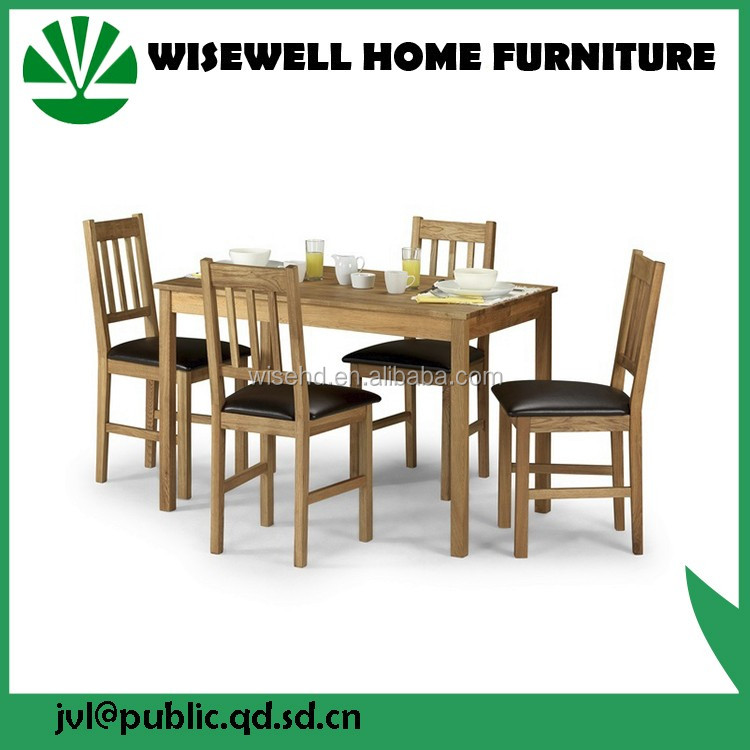 (W-DF-0650) Oak Wood Square Restaurant Dining Table