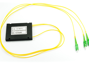 high quality 0.9mm1x2 SC APC /UPC PLC Fiber Splitter with 1 years warranty
