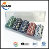 100pcs custom casino chips ceramic poker set with plastic transparent small box