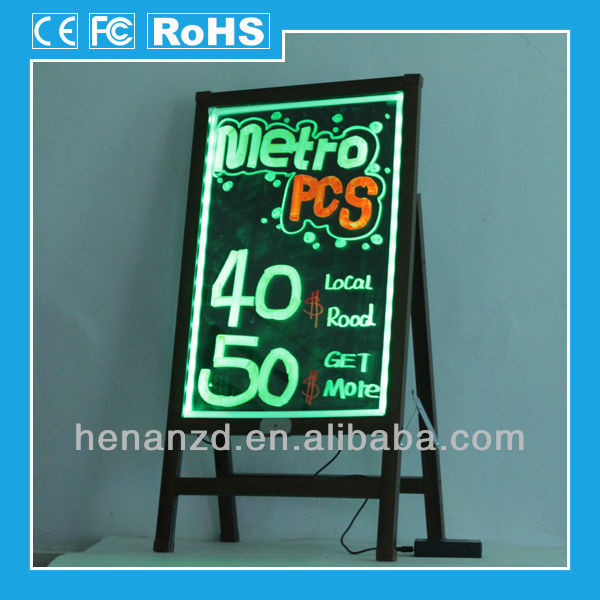 Coffee color wood-like frame and stand electronic message boards for schools