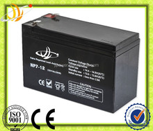 china battery manufacturer/cell battery 12v7ah