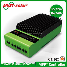 DSP processors architecture ensure high speed and perforance MPPT60A auto work MPPT solar charge controller
