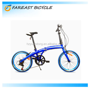 China factory wholesale 20-inch colorful high-ten steel V brake portable folding mountain bike for men and women