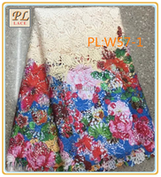 2015 latest best selling embroidery and textile lace for fashion dress