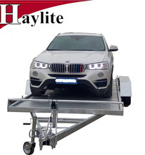 Fully galvanized 18 feed folding car carrying trailer for SUV or UTV