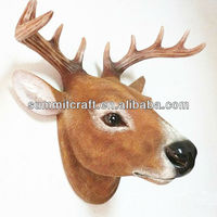 custom resin wall animal head sculpture