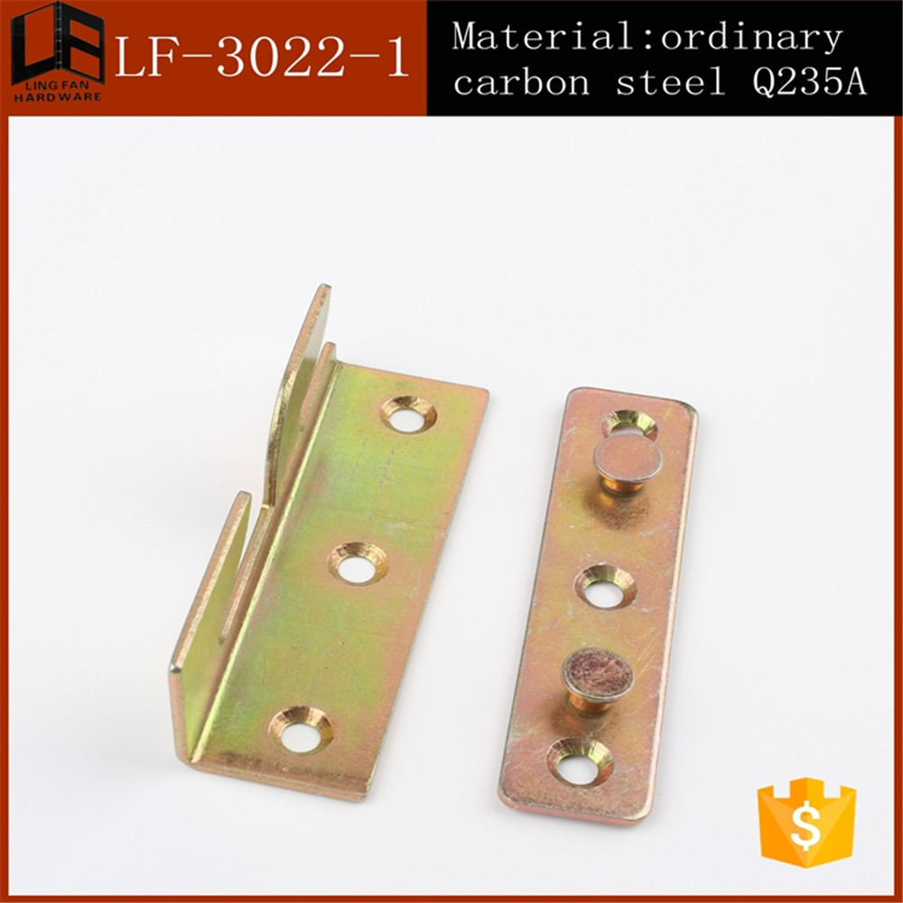 used furniture 3 inch metal connecting brackets for wood , bed hinge