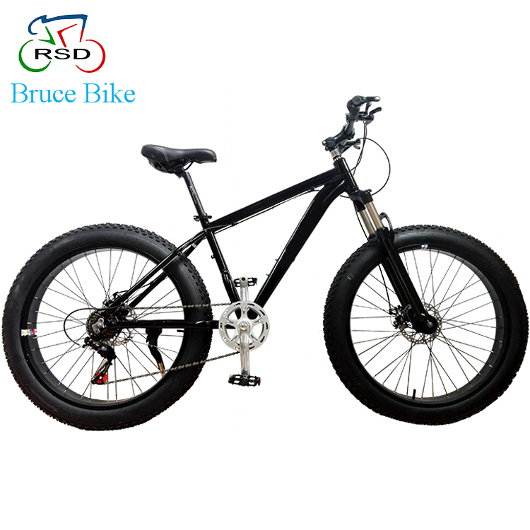2017 Most popular New Beach cruiser 26'' 4.0 new design steel fat tire bike, fat bike suspension fork, fat bike
