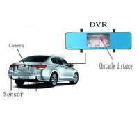 Car Audio System With Reverse Camera 4.3inch Rear View camera Lcd Monitor with Radar Parking Sensor for sale