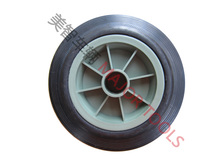 small plastic solid rubber coated spoke wheel 6 inch 6X2