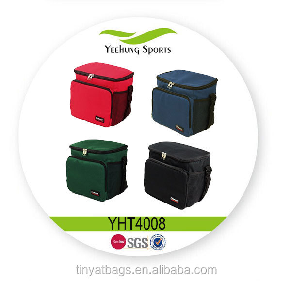 Hot Sell Eco-friendly 600D Polyester Can Cooler bag / Lunch Cooler bag