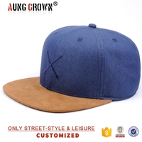 denim strap back hats/blank denim style hats/flat brim demin hats