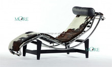 Replica Le Corbusier antique indoor Chaise Lounge LC4 Cowhide home furniture