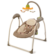 Smart connect app portable small baby swing with sound control and remote control