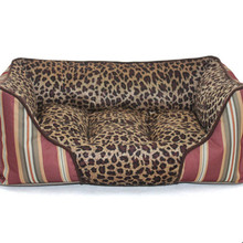 Leopard Print Dog Kennel Dog Sofa Large Dog Bed