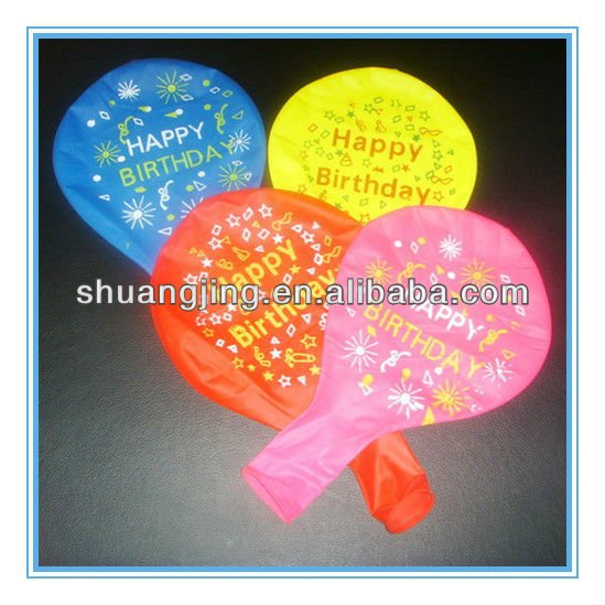 Plain printing balloon for birthday greetings