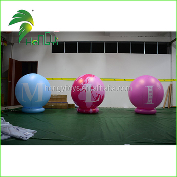 Funny Custom Print Design Factory Price Promotion Inflatable Ground Balloon With Ring