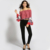 2017 New fashion wholesale clothes off shoulder top women clothes