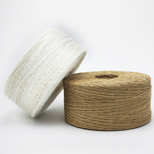 christmas natural and raw paper twisted rope and twisted raffia string paper string