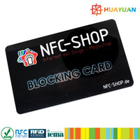 Plastic payment rfid card blocking protector made in China
