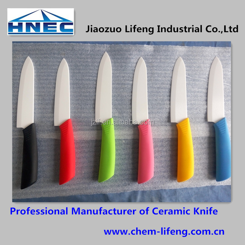 HNEC Colorful Handle Ceramic Chef Knife