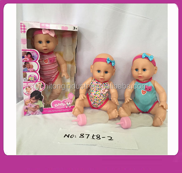 13 Inch Eco Vinyl Baby Dolls Drink Water Washing Wholesale Realstic Alive Born Dolls