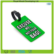Soft PVC Character 3D Travel Luggage Standard Size PVC Luggage Tag Suitcase Name Tag