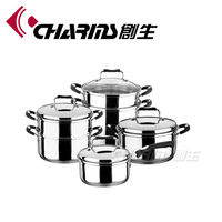 Charms Stainless Steel Induction hot pot soup base cookware sets