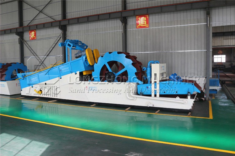spiral sand washing machine in aggregate separator plant