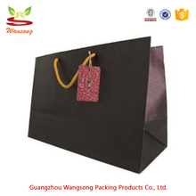 Luxury matte cheap black printed shopping bags ,hand carry smart shopping paper bag