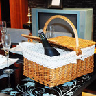 eco-friendly wicker basket for picnic