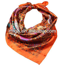 2013 Charming Square Silk Satin Hijabs Scarf (AX014)