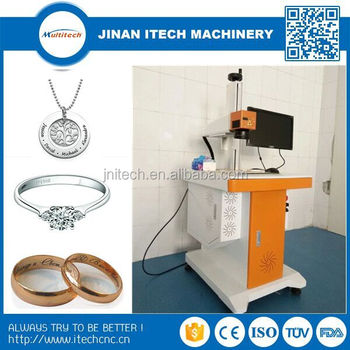 Hot sale 20w mini fiber color laser marking machine for metal