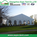 Large party marquee tent with clear pvc church windows