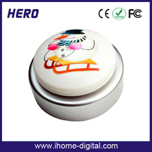 Factory price recordable sound talking button heartbeat recording device for promotion products